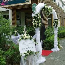 wedding arches decorated with tulle aliexpress buy new 75cm wide organza decoration fabric for