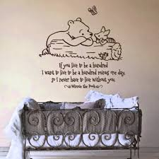 winnie the pooh words quotes for nursery wall decals design with winnie the pooh words quotes for nursery wall decals design with antique cradles ideas