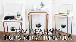 diy ikea hacks nightstand with hanging succulent terrarium diy