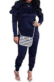 sweat suit jumpsuit amazon com chellysun womens jumpsuit ruffle sleeve
