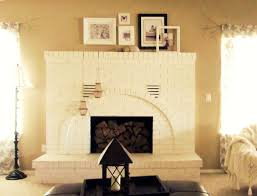 cool brick fireplaces painted white design decorating creative