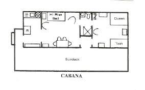 cabana plans rental lakefront cottage floorplans