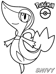 pokemon coloring pages of snivy pokemon coloring pages axew vitlt com