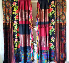 Coral And Navy Curtains Navy Floral Curtains Alpals Info