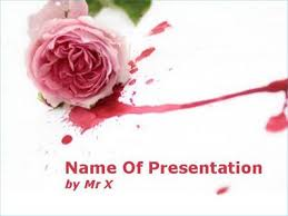 rose flower in blood powerpoint template