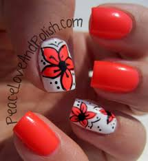 daily nail art summer flowers flauntme
