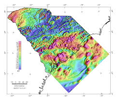 map of carolina south carolina aeromagnetic and gravity maps and data a web site