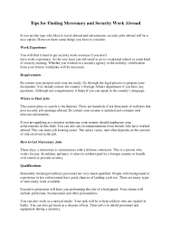 Air Force Resume Examples by Private Security Contractor Resume Virtren Com