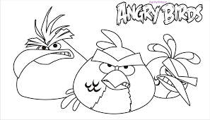 angry birds rio coloring pages bebo pandco
