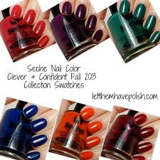 let them have polish seche nail color clever u0026 confident fall