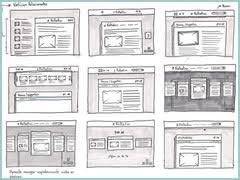wireframes magazine sketch