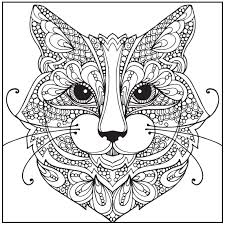 cat coloring pages for adults inside free for to print eson me