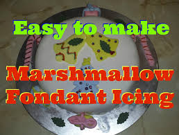 easy to make marshmallow fondant icing