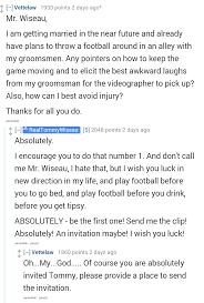 reddit did an ama with tommy wiseau the creator of u0027the room u0027 i