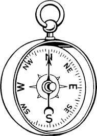 pocket compass drawing sketch coloring page
