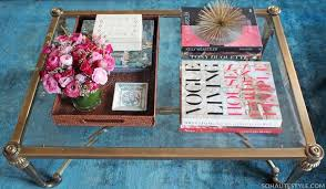 Style A Coffee Table How To Style A Chic Coffee Table Gibbons Style