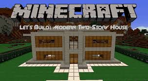 two story houses let s build modern two story house in minecraft