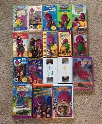 barney u0026 friends lot of 18 classic movies vhs tapes w waiting for