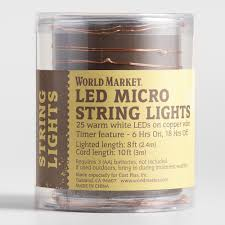 Copper String Lights by Copper Micro Led 25 Bulb Battery Operated String Lights World Market