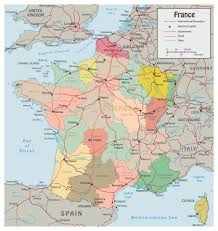 Map Paris France by Detailed Political Map Of France With Roads And Major Cities