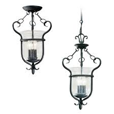 Semi Flush Pendant Lighting 5101 07 Three Light Semi Flush Convertible Pendant Weathered Iron