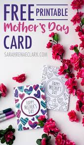 Mother S Day Designs Free Mother U0027s Day Card Printable Template Sarah Renae Clark