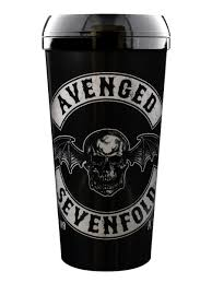 Avenged Sevenfold Flag Avenged Sevenfold Death Bat Crest Travel Mug Buy Online At