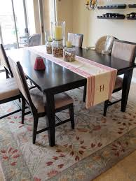 round rug under table area dining room oblong tables with rugs
