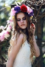 hair wreath hair wreath flower crown headpiece by rougepony