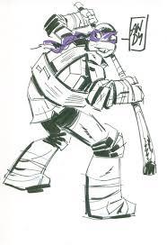 teenage mutant ninja turtles donatello original art sketch andy