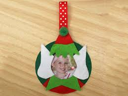 photo frame tree ornament elves craft and