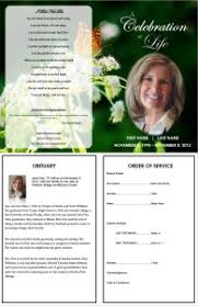 a funeral program creating a funeral program template for a funeral order of service