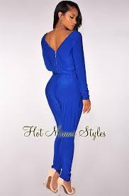 royal blue jumpsuit royal blue zipper jumpsuit
