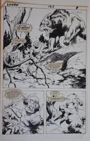 john buscema charles vess original art conan the barbarian 163