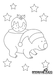 christmas colouring sheets themed australian animals