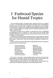 Al S Firewood North Bay by Fuelwood Species For Humid Tropics Firewood Crops Shrub And