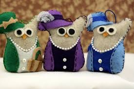 buy felt owl ornaments downton inspired try handmade