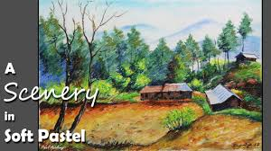 Mountain Landscape Paintings by Soft Pastel Painting How To Paint A Mountain Landscape Youtube