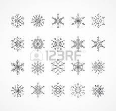 snowlakes geometric line ornaments pattern and