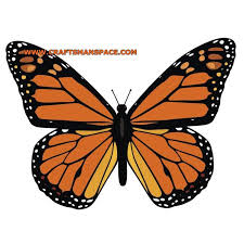 monarch butterfly vector crafts paper cutting