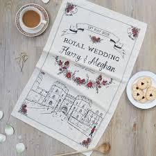 wedding tea royal wedding tea towel eggs