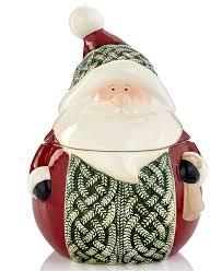 ganz holiday serveware knit sweater santa cookie jar holiday