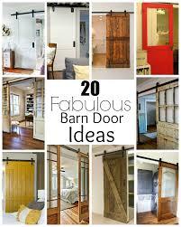 Sliding Barn Doors In Homes by 20 Fabulous Sliding Barn Door Ideas Little House Of Four