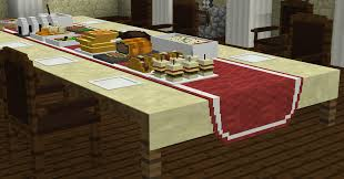 Minecraft Dining Table Minecraft Custom Modeling Dinner Party Minecraft Project