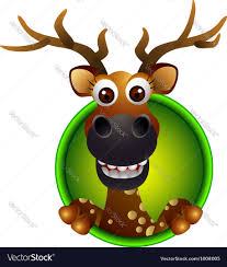 cute deer head cartoon royalty free vector image