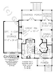 south beach house plan coastal house plans