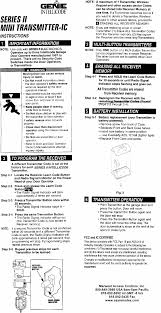 Overhead Door Keypad Programming by Genie Intellicode Transmitter Model Gmi 3bl Programming Instructions