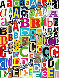 multicolor set 3 printable digital alphabet a to z magazine