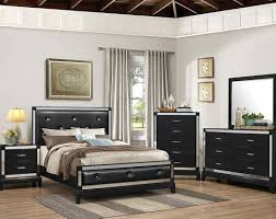 black and silver bedroom sets