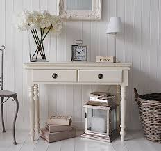 narrow console table for hallway a cream hall console table from the white lighthouse hallway ideas